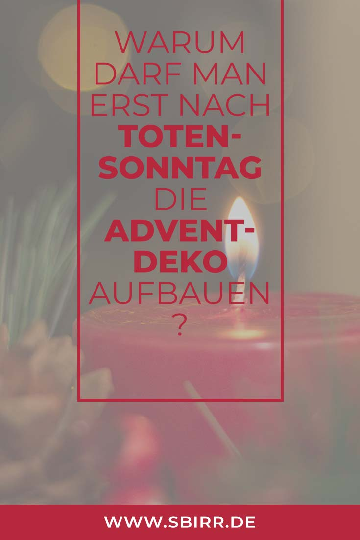 Advent Deko Totensonntag